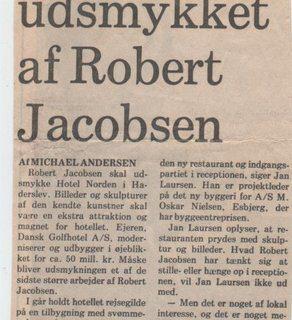 Zeitungsartikel Robert Jacobsen